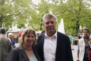 Ruth waldmann mit Dieter Reiter